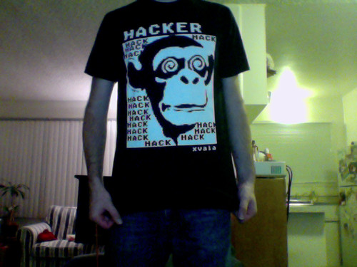 XVALA - HACKER/Chimp shirt