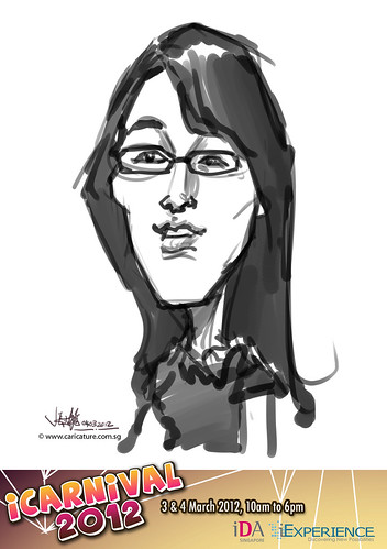 digital live caricature for iCarnival 2012  (IDA) - Day 2 - 26
