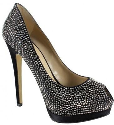 size 40 edc54 4267b Strass e tacco stiletto per le scarpe Cinti del Natale 201 ...