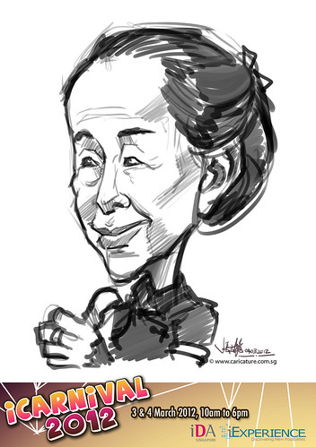 digital live caricature for iCarnival 2012  (IDA) - Day 2 - 27