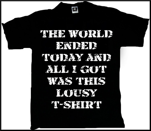 End of the world T-shirt (back)