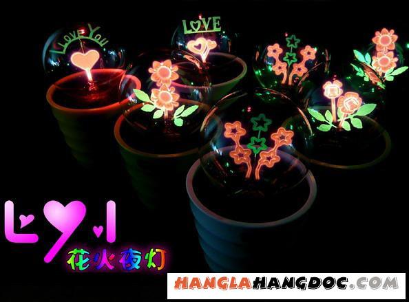 Đèn hoa lửa, đèn ngủ mang thông điệp yêu thương đẹp lung linh lãng mạn. ...
