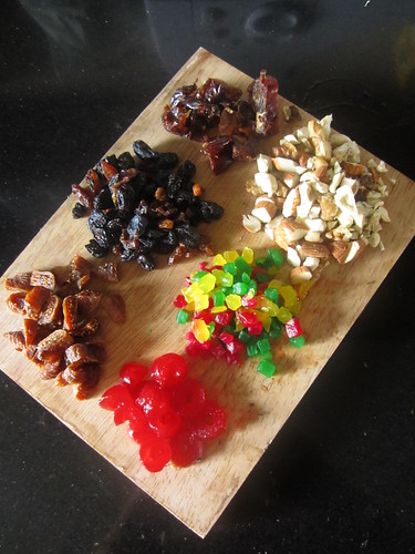 Christmas Fruit Cake-ingredients