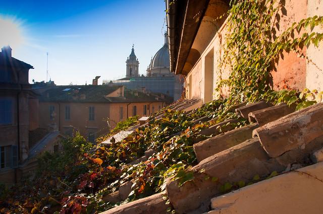 Vue de l'hôtel Raphaël, Rome