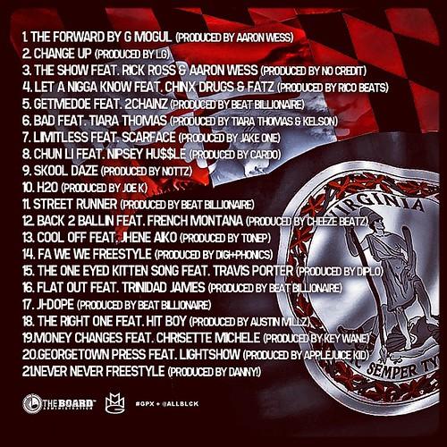 """Folarin"" tracklist"