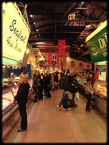 At St Lawrence Market on Christmas Eve eve. A rare Sunday opening n