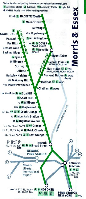 NJT Morristown 11-2010 Map