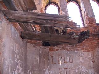 Zniszczony Zamek w Łące Prudnickiej