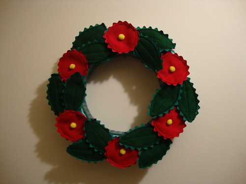 Mary Englebreit wreath I made circa ??