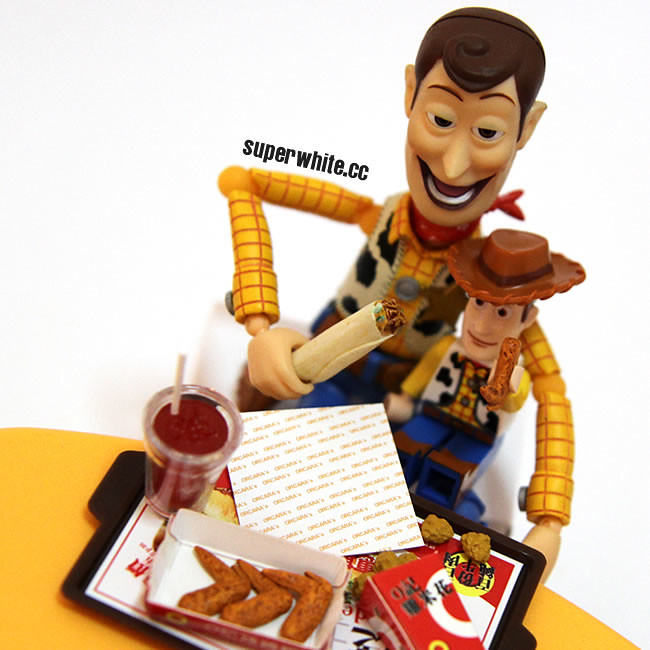 Happy meal with baby Woody