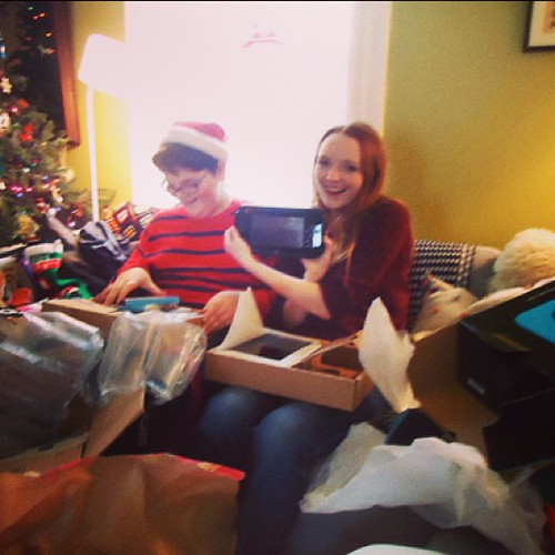 totally amazed at this point #yule #latergram #wiiu #siblings