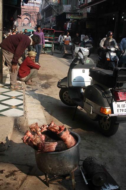 City Food - Buffalo Legs, Chitli Qabar Bazaar