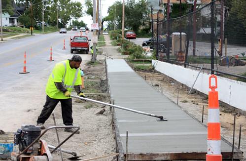 sidewalk reinstallation in the Green Impact Zone (courtesy of MARC)