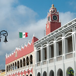 Ayuntamiento on Merida's Plaza Grande - Yucatan, Mexico