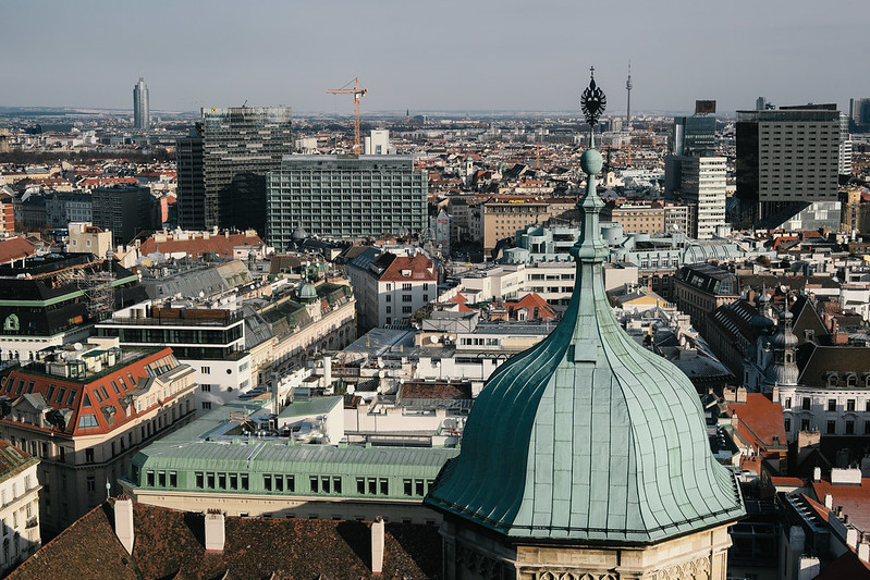 View from the tower of St. Stephen's Cathedral.