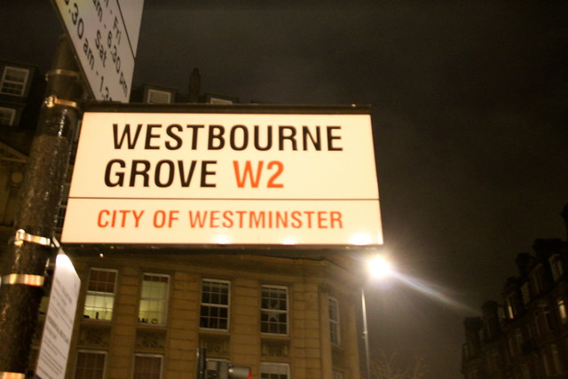 Westbourne Grove W2 Sign