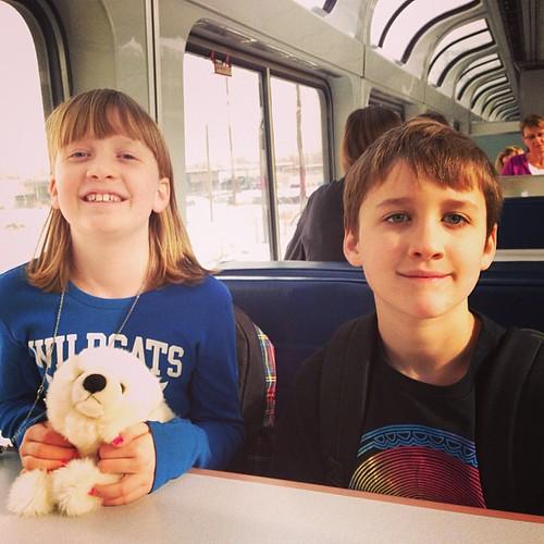 Train travelers