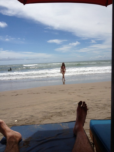 Relaxing on Kuta Beach Bali