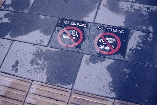 No smorking.No littering.