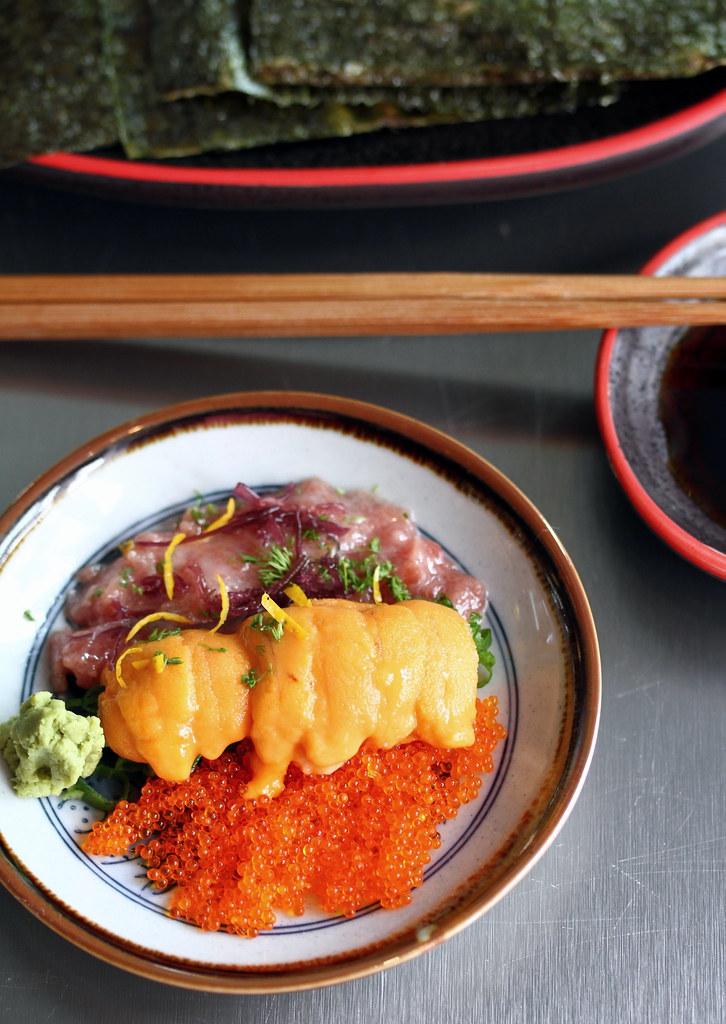 Sushi Airways Sushi Bar's DIY Negi Tori Roll