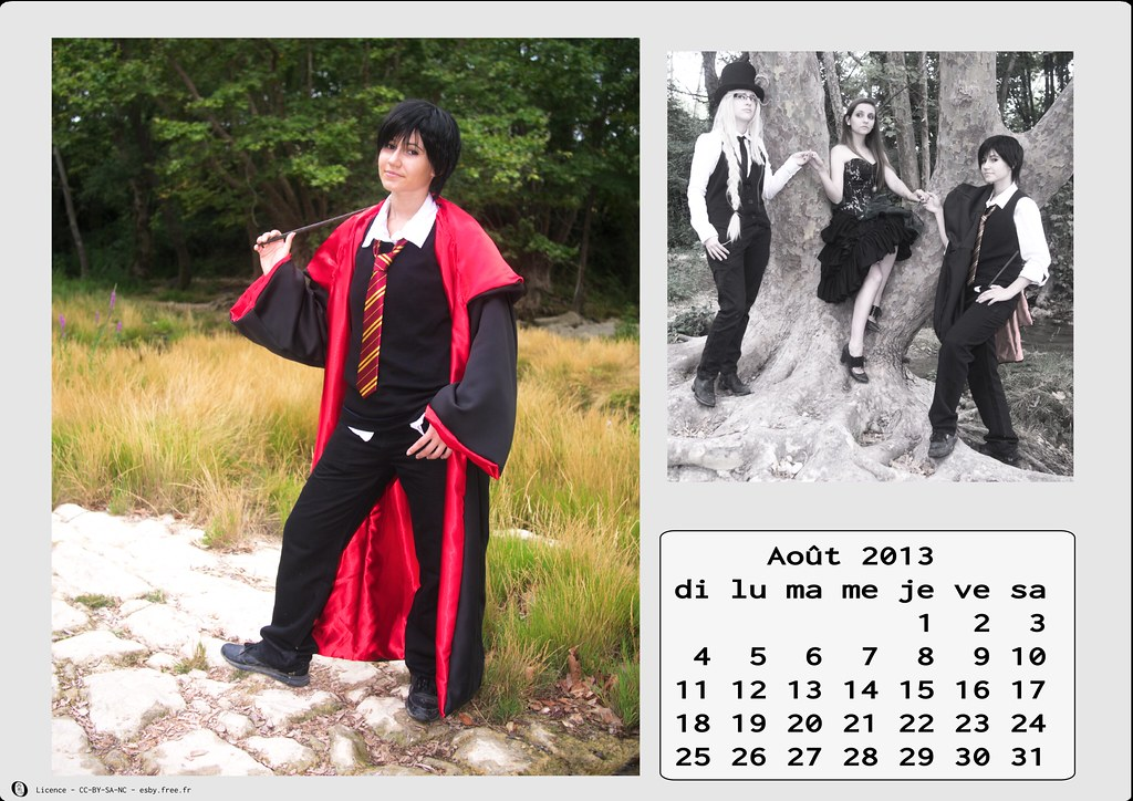 related image - Calendrier Cosplay  2013 - 08 - Août