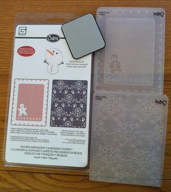 Sizzix Christmas embossing folders
