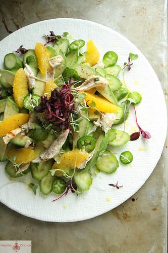 Cucumber, Chili and Orange Chicken Salad