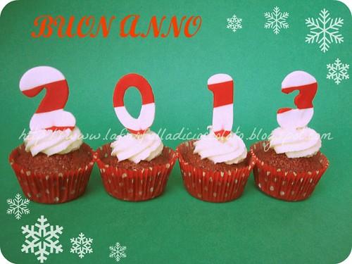 Red velvet cupcakes capodanno
