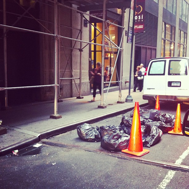 NYC street trash