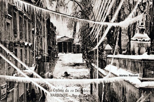 rue de Narbonne après les pluies verglaçantes des 19 et 20 décembre 1920 météopassion