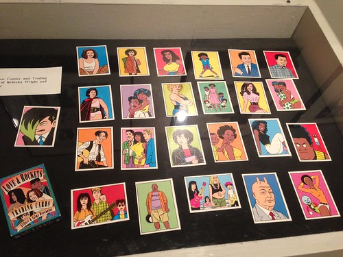 Love and Rockets trading cards at the Cartoon Art Museum