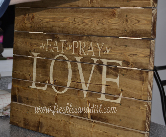 diy wooden stained sign