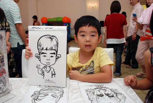 caricature live sketching for birthday party 28042012 - 11