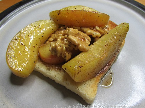 Karamellisierte Äpfel mit Walnüssen