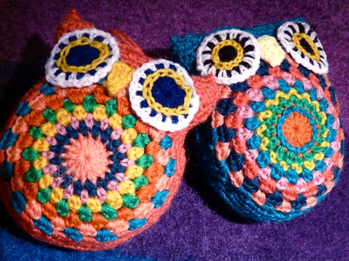 Owls for Mom; pattern by ATERGcrodhet