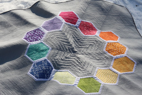 Modern Hexagon Quilt