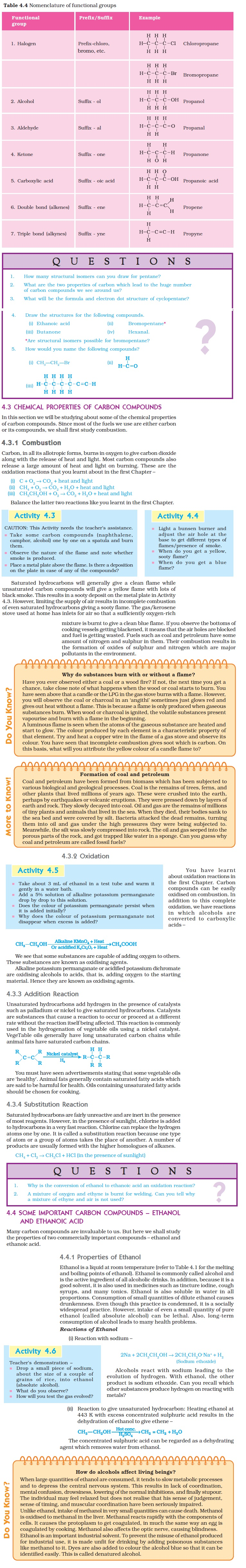 NCERT Class X Science: Chapter 4 - Carbon and its Compounds