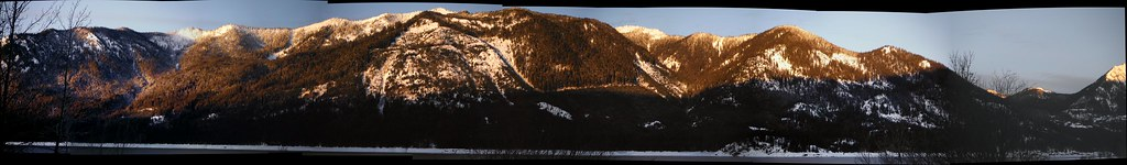 French Cabin Mountains Sunrise Pano
