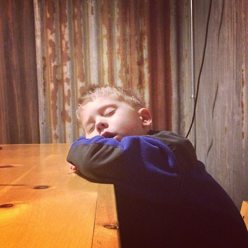 Nap time is important...otherwise you fall asleep at dinner! #latergram