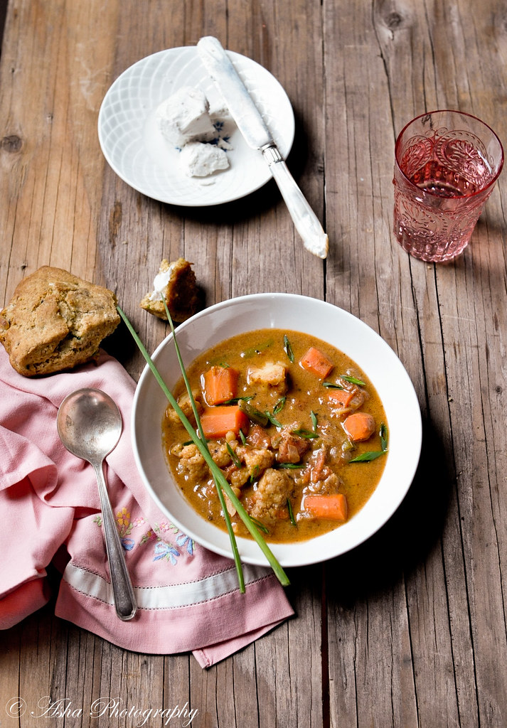 Moroccan Vegetable Stew & Jalapeno Scone