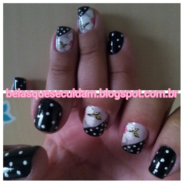 unhas dark romantic