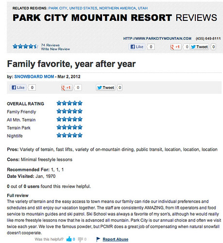 PARK CITY REVIEW