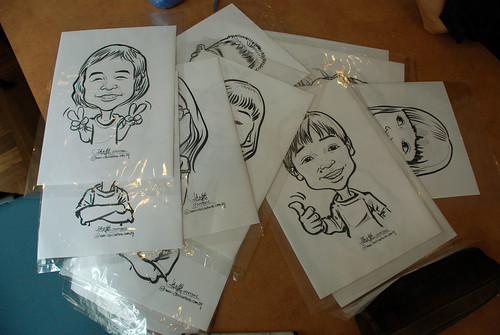 caricature sketching for a birthday party 07072012 - 15