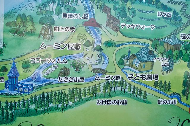 ムーミン谷マップ