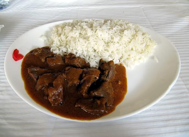 African Cuisine - Beef with Peanut Sauce, Dassa Zoumé, Benin, West ...