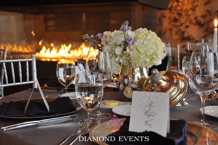 white hydrangea purple stock primland resort diamond events