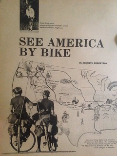 Parade Magazine Article on Bikecentennial76 April 11, 1976