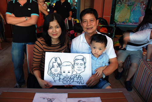 caricature live sketching for Mark Lee's daughter birthday party - 18