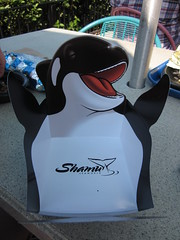 Yeah, eating from Shamu's belly