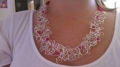 pink dragon vein necklace